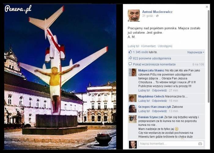 Antoni Macierewicz i jego propozycja pomnika