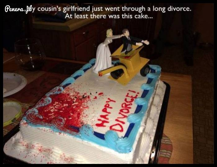 Fajny torcik z okazji rozwodu