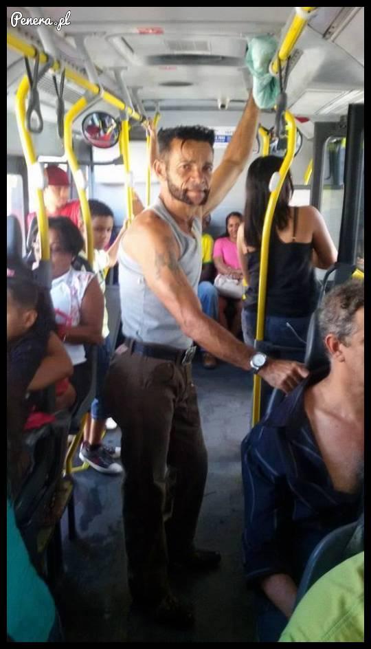 Wolverine spotkany w autobusie