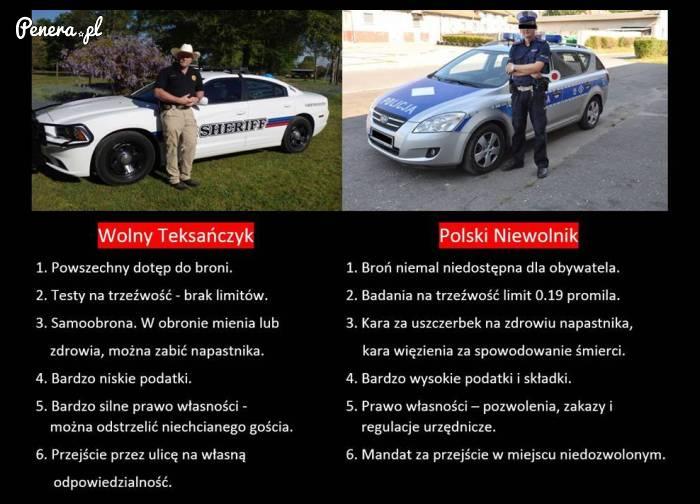 Co może Wolny Teksańczyk a Polski Niewolnik