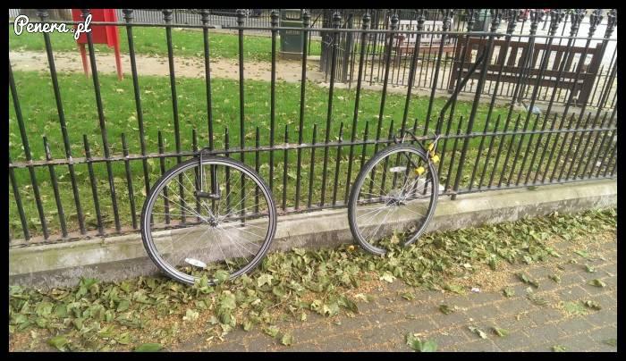 Dla złodzieja nawet tak zabezpieczony rower to nie problem