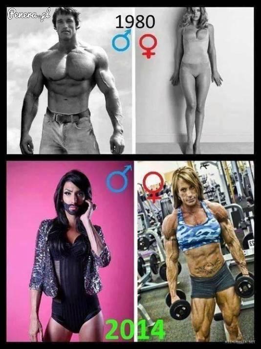 Mężczyźni i kobiety kiedyś i dziś