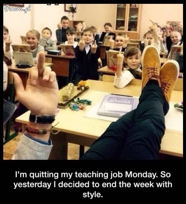 Tymczasem w klasie z nauczycielem