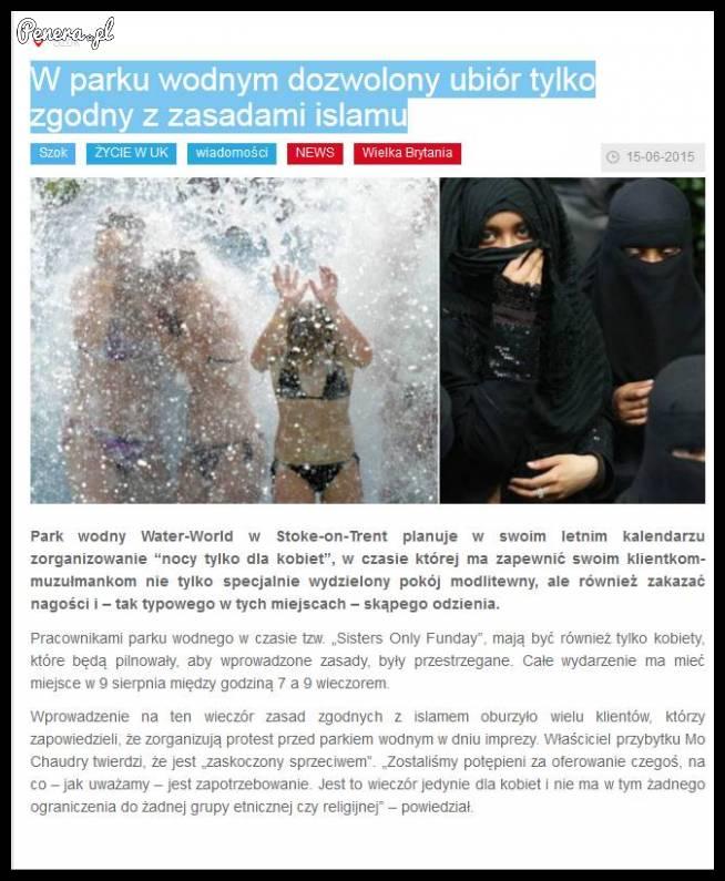 W parku wodnym dozwolony ubiór tylko zgodny z zasadami islamu