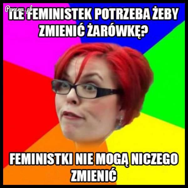 Ile feministek potrzeba do zmiany żarówki :D