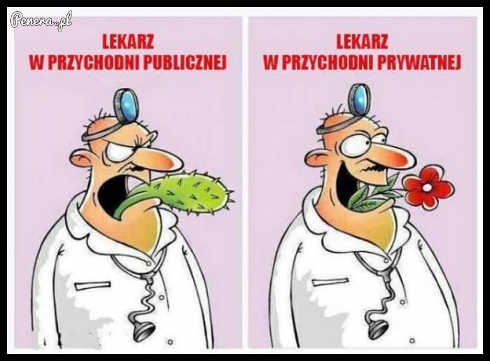 Lekarz w przychodni vs lekarz prywatnie