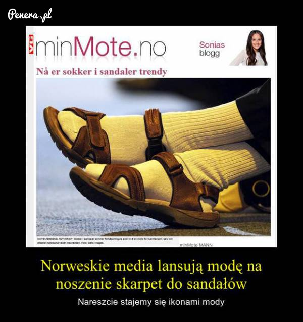 Norwegowie ściągają modę od nas :D