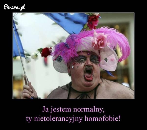 On jest normalny ty nietolerancyjny homofobie!