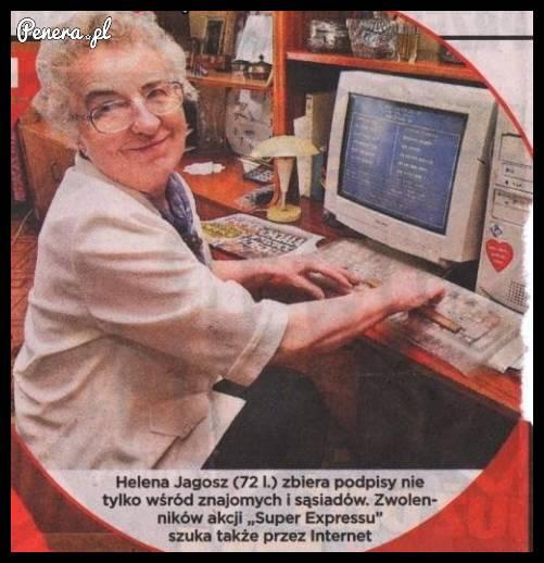 Pani Helena zbiera podpisy w BIOSie :D