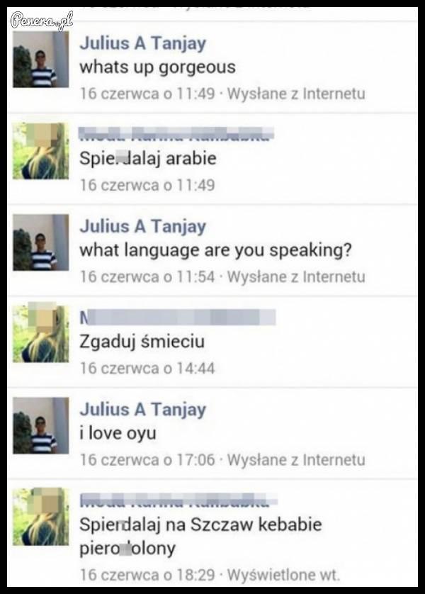 Polka i jej rozmowa z arabskim adoratorem