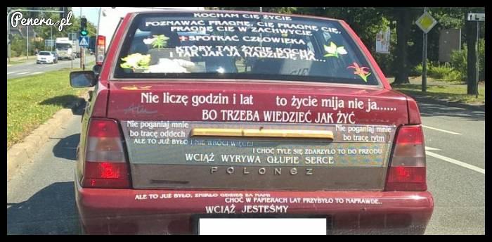 Rozśpiewany Polonez mknie po ulicach miast :D