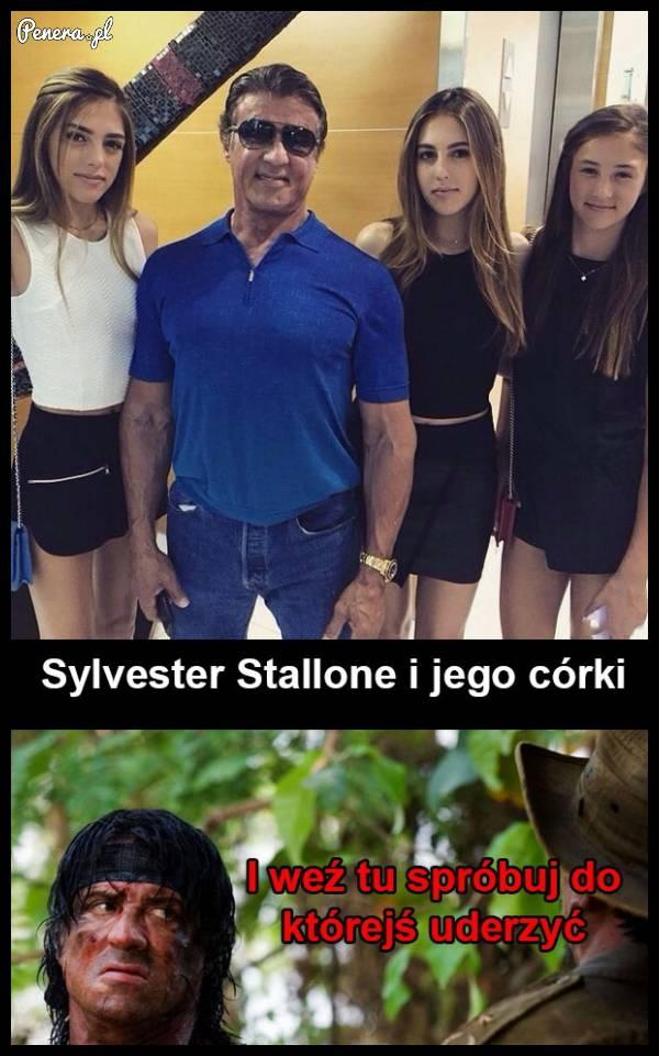 Sylwester Stallone i jego córki