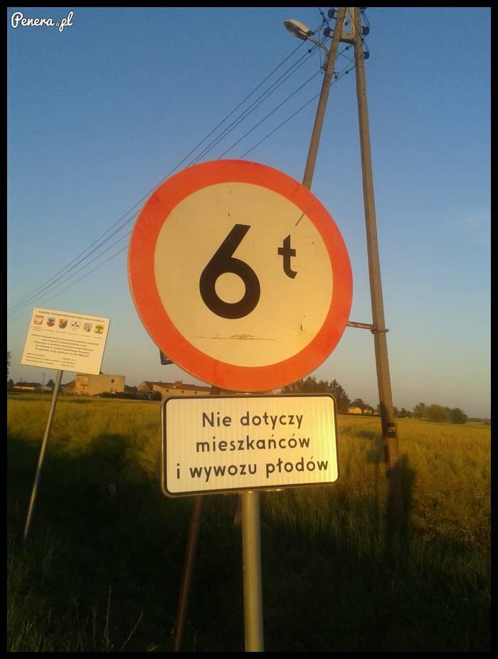 Że czego nie dotyczy ten znak?