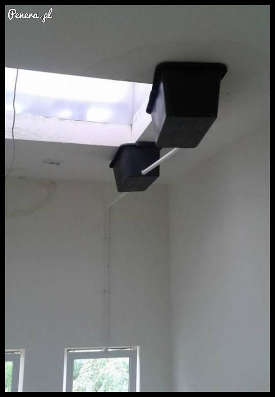 Janusze przyszli naprawić przeciekający dach...