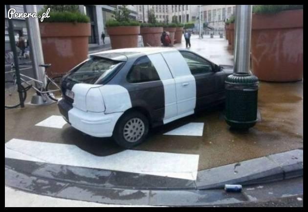 Karne malowanie za złe parkowanie