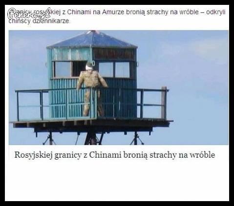 Rosyjskiej granicy z Chinami bronią strachy na wróble