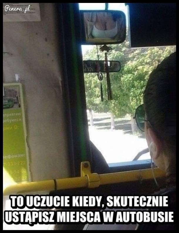 Skuteczne ustąpienie miejsca w autobusie :D