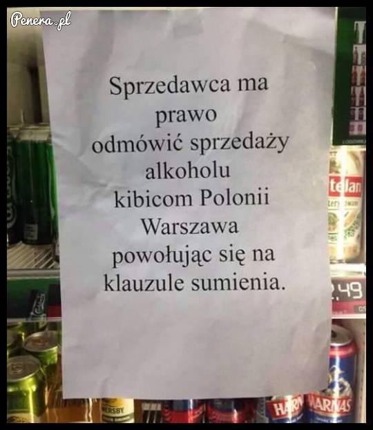 Sprzedawca ma prawo odmówić sprzedaży alkoholu :D
