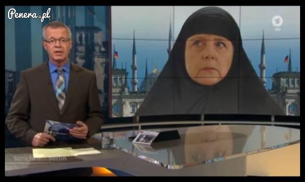 Już nawet niemieckie telewizje mają nabitę z Merkel