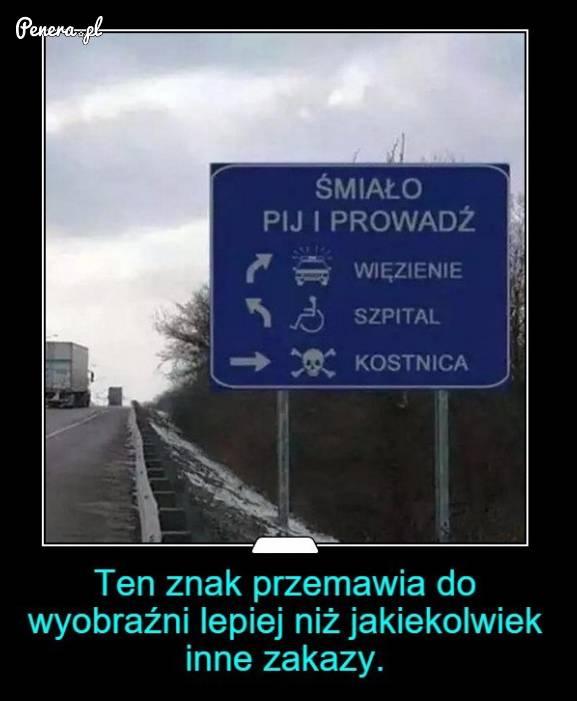 Najlepsze ostrzeżenie przed jazdą i chlaniem
