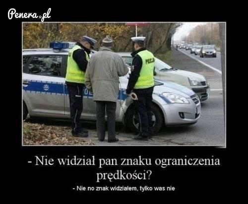 Tak to zazwyczaj wygląda gdy zatrzymuje mnie policja