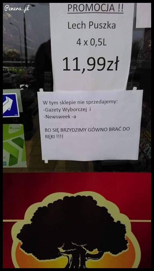 Takie ogłoszenie na sklepie!