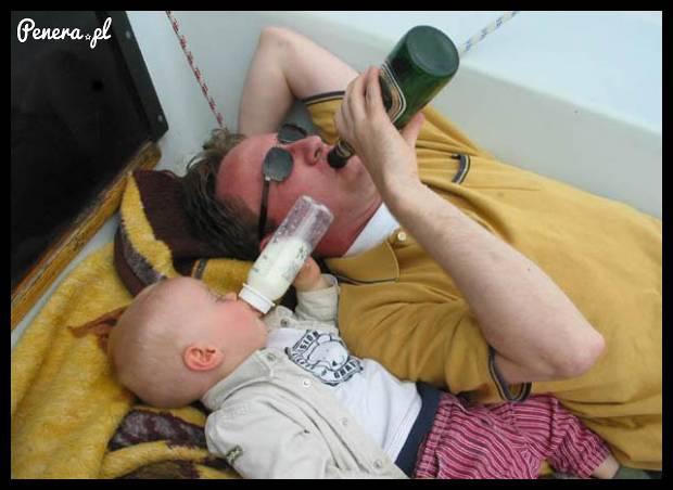 Tatuś to zawsze sobie jakoś poradzi :D