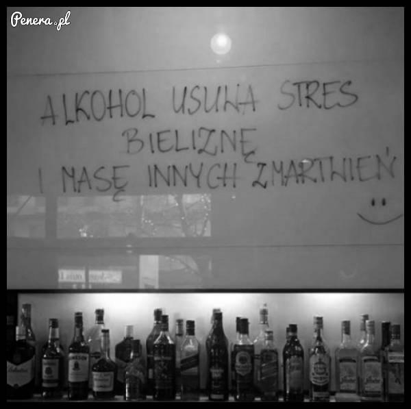 Alkohol potrafi usunąć bardzo wiele rzeczy