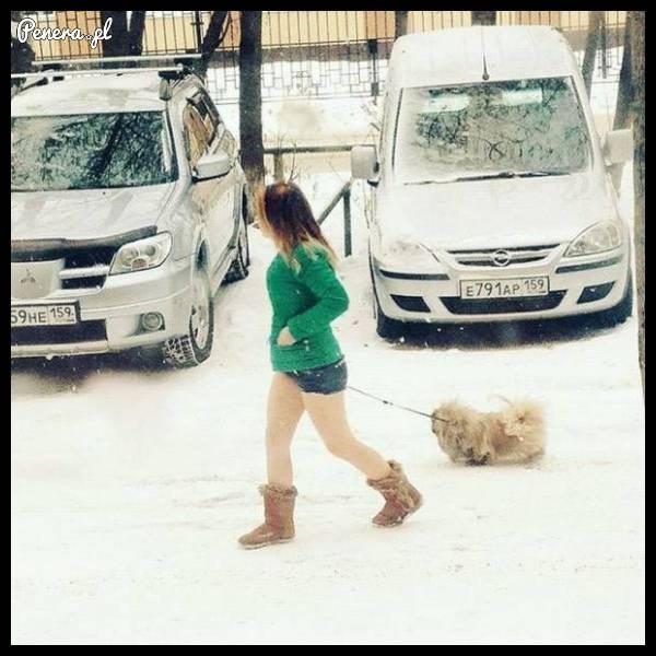 Dla niej zima nie istnieje!