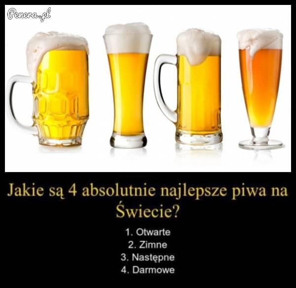 Jakie są cztery absolutnie najlepsze piwa na świecie?