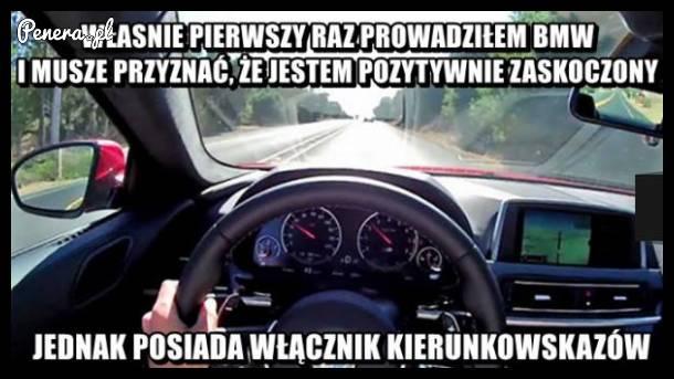 Pierwszy raz w BMW