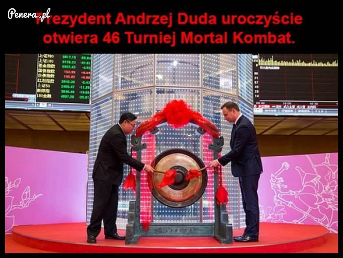 Prezydent Andrzej Duda uroczyście otwiera 46 Turniej Mortal Kombat