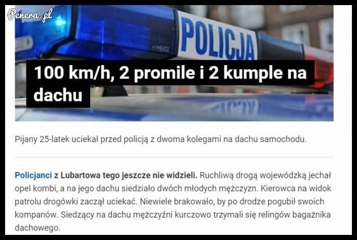 Ucieczka przed policją!