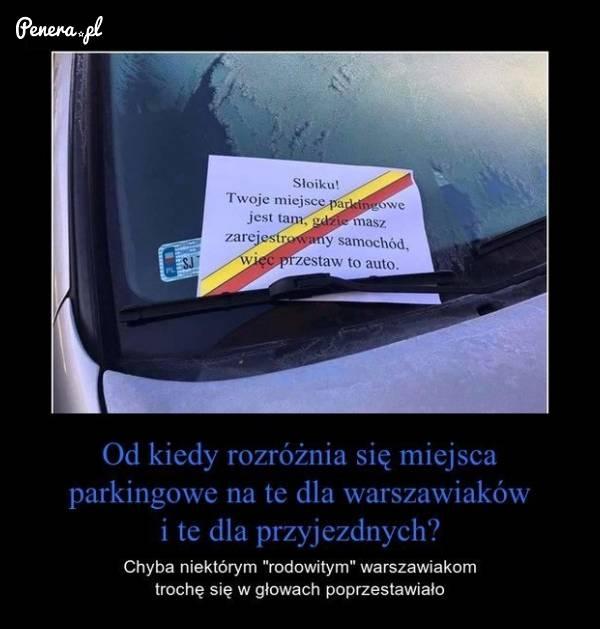 W Warszawie mają już parkingi dla mieszkańców i przyjezdnych