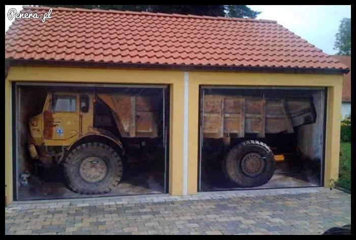 za**bisty pomysł na pomalowanie drzwi garażowych