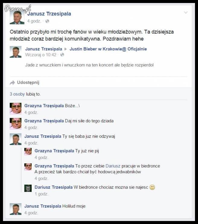 Janusz Trzesipala i jego wyjazd na Bibera