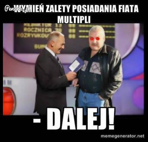 Janusz - wymień zalety posiadania Fiata Multipla