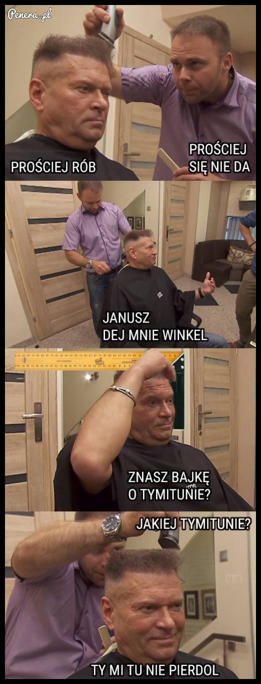 Tak właśnie wygląda wizyta Rudkowskiego u fryzjera