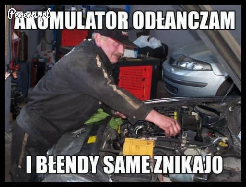 Typowy Janusz specjalista mechanik