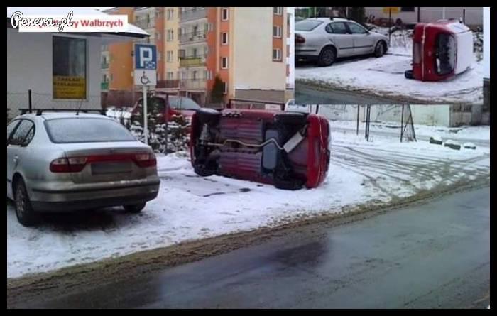 Konkretna kara za parkowanie na kopercie - Wałbrzych