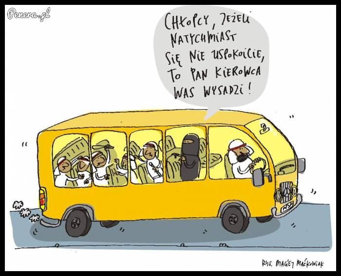 Lepiej być grzecznym w autobusie