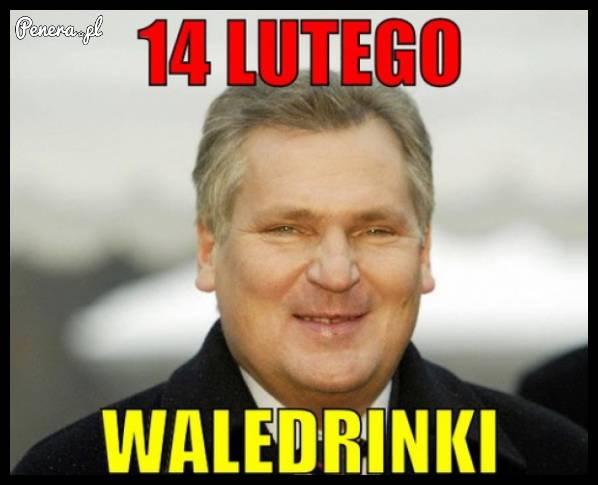 Co robi Kwaśniewski 14 lutego??
