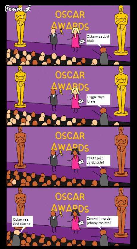 Tak właśnie wygląda rasizm na Oskarach