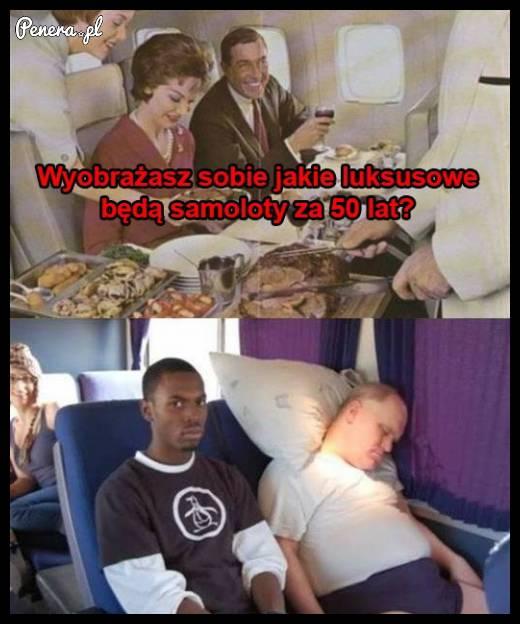W przyszłości latanie miało być jeszcze bardziej luksusowe