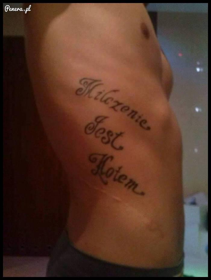 Chyba powinien zmienić tatuażystę
