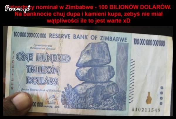Najwyższy nominał w Zimbabwe