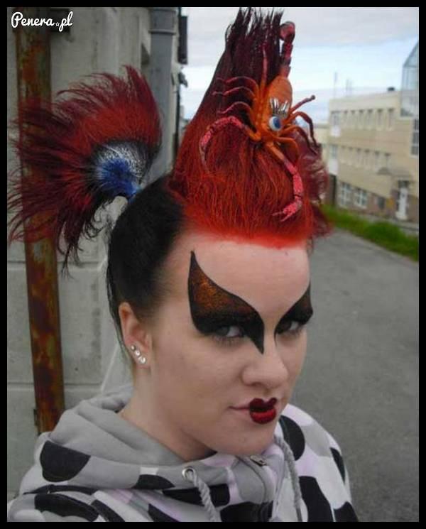 Piękna fryzurka i makijaż