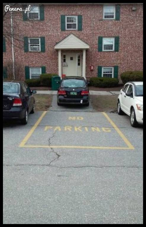 Niby nie można parkować a jednak się da
