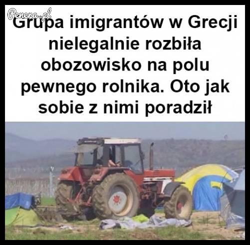 Rolnik w Grecji wk*rwił się na imigrantów