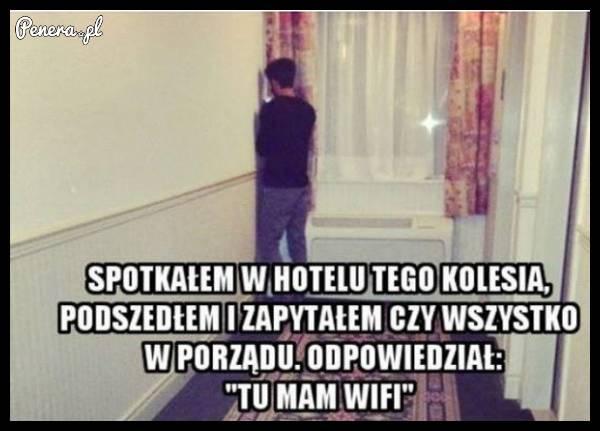 Spotkałem w hotelu tak stojącego gościa